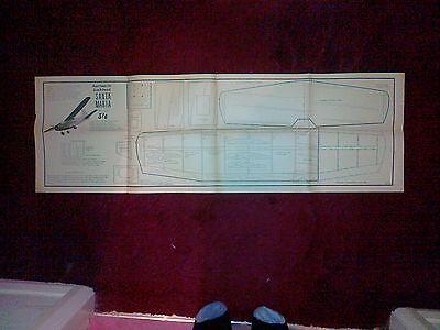 Bellissimo Aermacchi Lockheed Santa Maria Scala Semi Ff O Rc Modello Piano Per D Boddington-mostra Il Titolo Originale