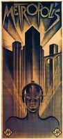 Metropolis Fritz Lang 1927 Vintage Style Movie Poster 16.4 X 36 Inches