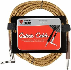 Electric-Bass-Instrument-Guitar-Lead-3m-Meter-10ft-Cable-Jack-Right-Angle