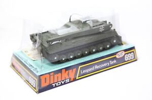 Dinky-699-Leopard-Recovery-Tank-In-Its-Original-Box-Near-Mint-Vintage-Original