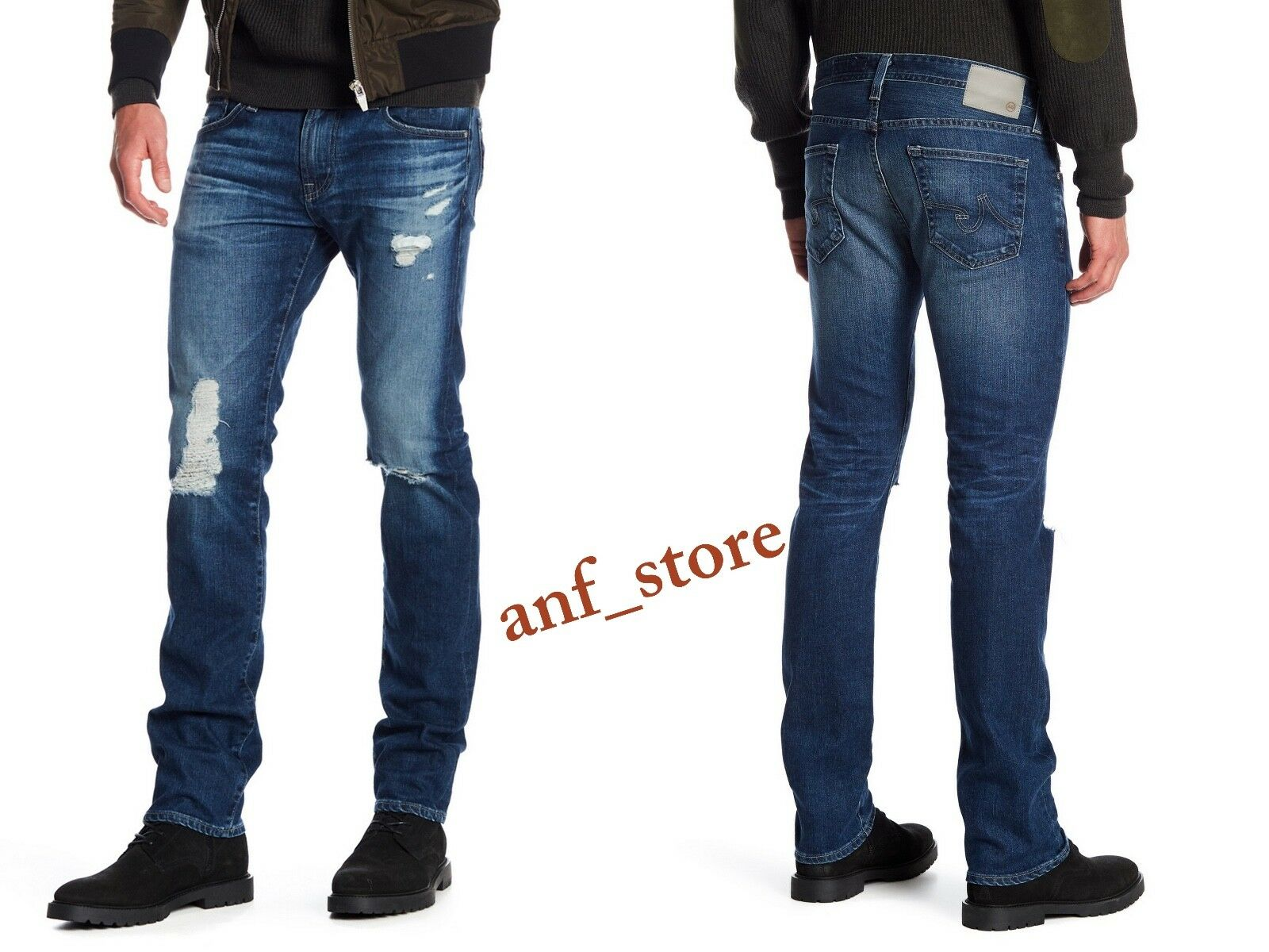 NWT AG Adriano goldschmied MATCHBOX Slim Straight Stretch Mens Jeans 33x32