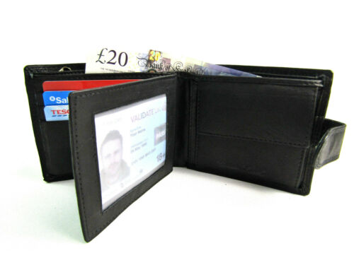 Premium Quality Real Leather RFID Protected Wallet Credit Card Holder gift Boxed