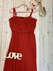 Vestido-De-Baile-Holly-Willoughby-UK-16-Rojo-impresionante-Vestido-para-Baile-de-graduacion-Baile