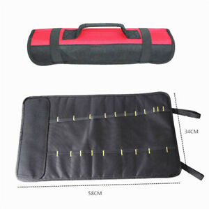 Outil-Sac-Rangement-Accessoires-Pieces-Moto-Tissu-Oxford-58-34cm-Neuf