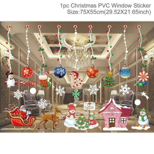 Details about  /Santa Claus Merry Christmas Decor for Home 2020 Window Sticker Christmas