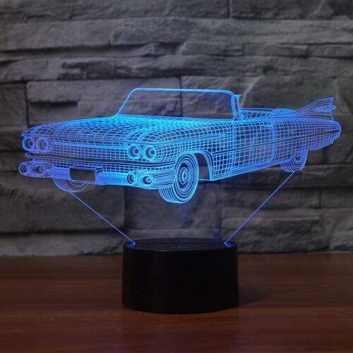 3D Night Lamp Light Led Cadillac Eldorado 1959 Car Design Colorful Changing