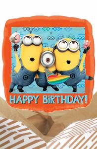 Image Is Loading Minions Happy Birthday Balloon In A Box Gift