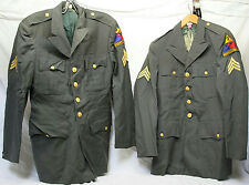 38R 37L WW2 U.S ARMY 3RD ARMORED DIVISION SPEARHEAD SERGEANT COAT JACKET ORG