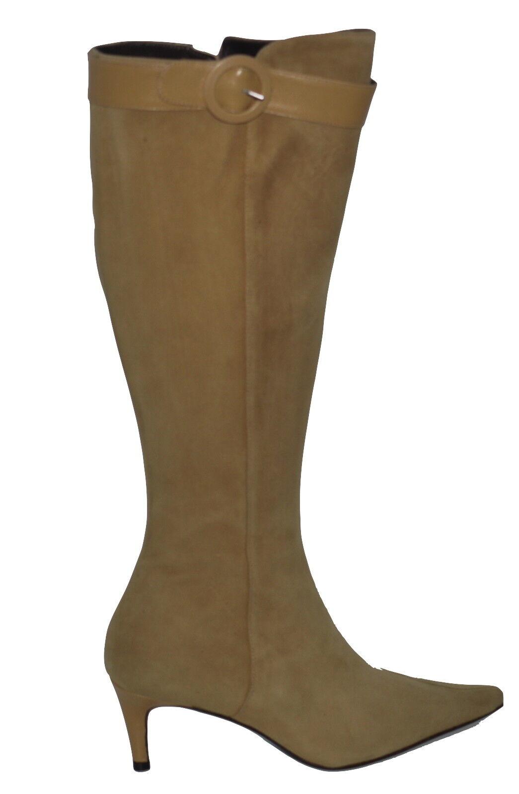 Martinez Valero Camel Suede Stiefel Größe 3.5 NIB SP