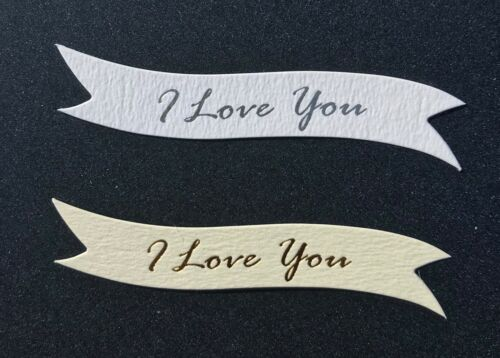 I Love You banners//card toppers on 300gsm quality boards pk10