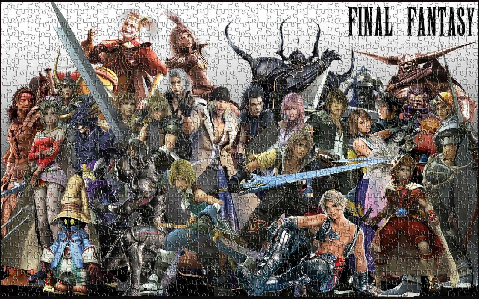 Final fantasy - figuren jp wolke spiel kinder spielzeug wand dekore puzzle - 1000