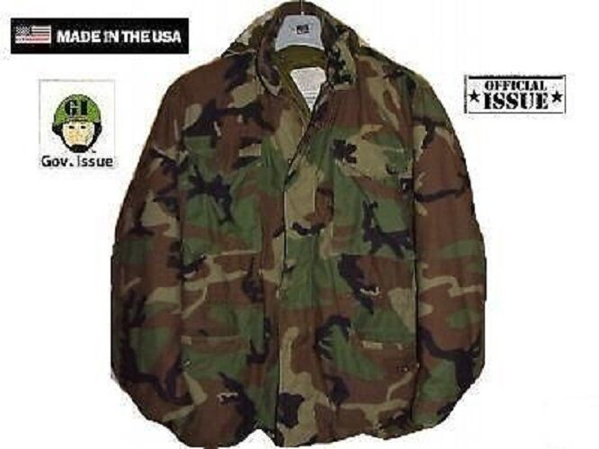 US Army m65 Giacca Giacca campo REFORGER WCP Woodland Mimetico XSS XSmall SHORT