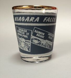 Image Is Loading Vintage Niagara Falls Canada Double Shot Glass Travel