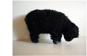 Oveja-5-cm-Negro-De-Lana-piel-Animal-Pieles-FIGURA-NINOS