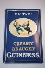 """3D Blechschild Guinness Bier 20x30 cm """" ON TAP CREAMY DRAUGHT """" Irland Tin Sign"""