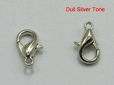 600 Dull Silver Tone Jewelry Lobster Clasp Findings 12x6mm