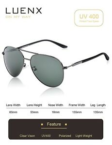 33ac1978120d6 Image is loading LUENX-Mens-Womens-Aviator-Sunglasses-Polarized-Mirror-With-