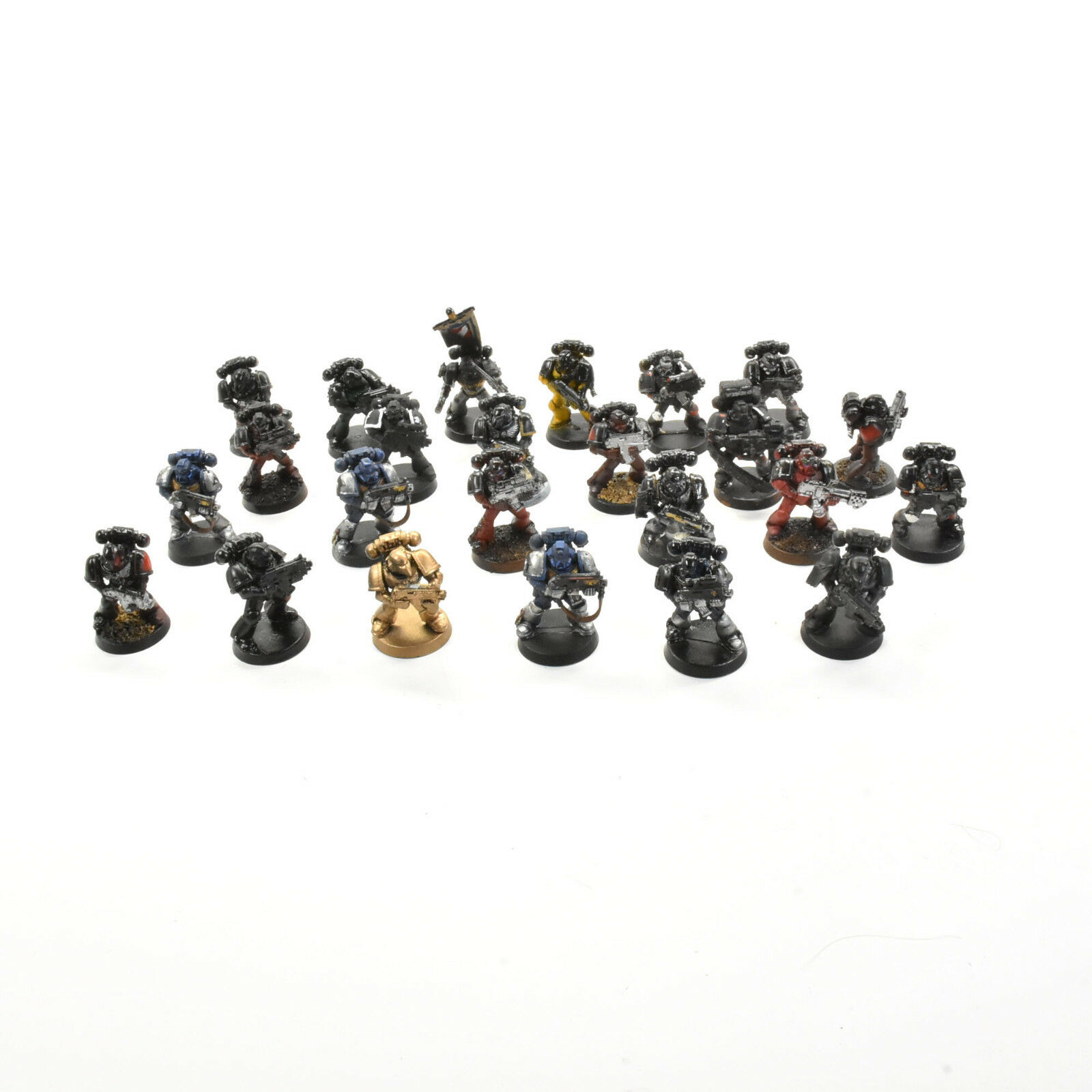 SPACE MARINES 24 tactical Marines Warhammer 40K poor condition