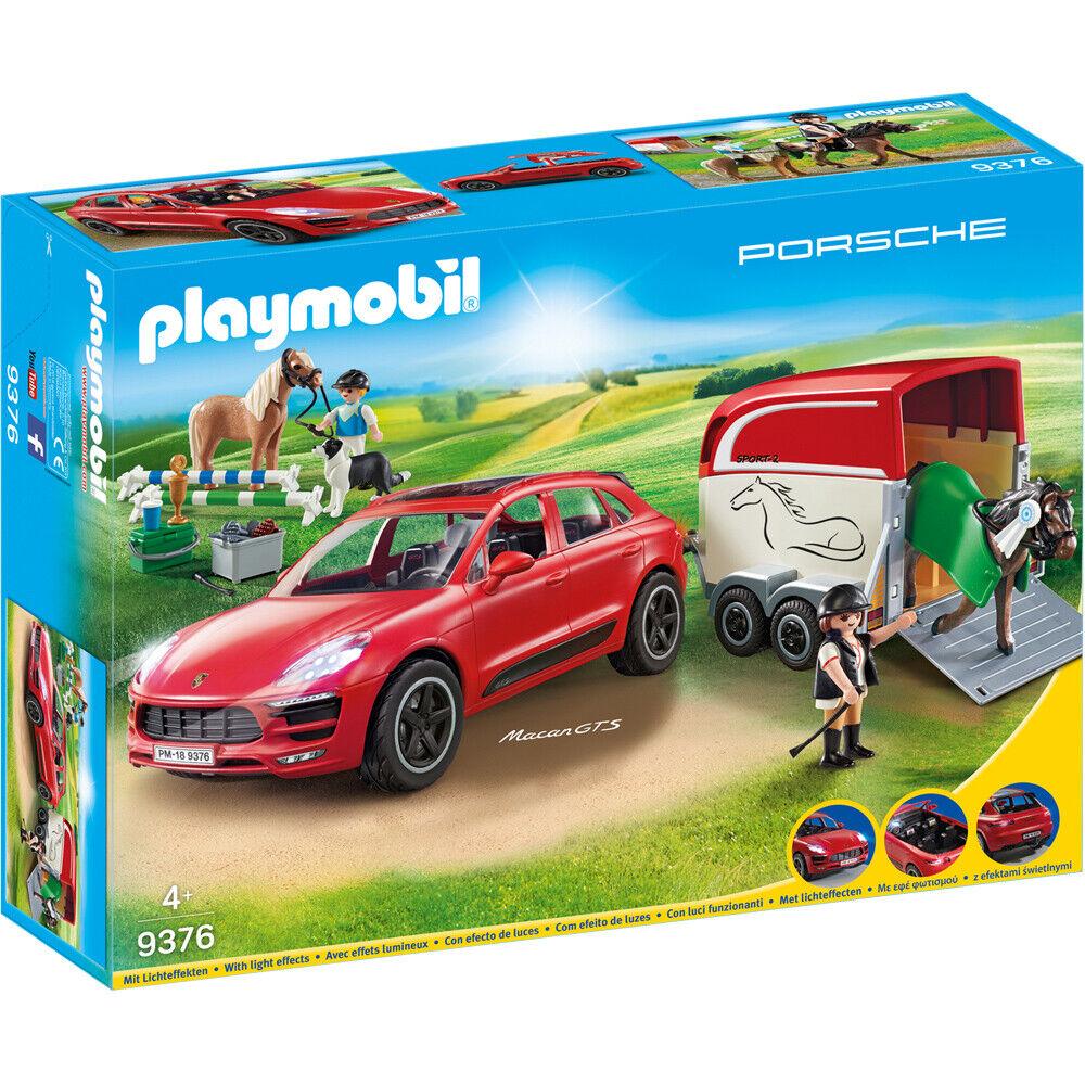 Playmobil Porsche Macan GTS with Horse Trailer & Winch Playset Playset Playset - 9376 a5ed7b