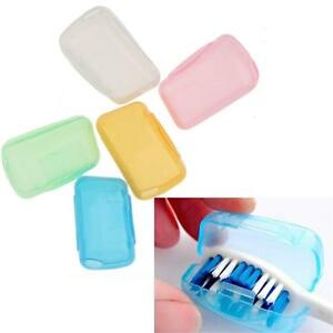 5 Travel Camping Toothbrush Head Cover Holder Protect Brush Caps Box Cases
