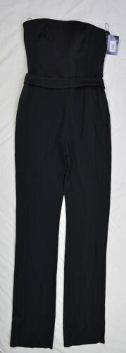 Mugler Overall Größe Glanz 40 Schwarz Businesshose Jumpsuit Trägerlose Damen PkwOn80