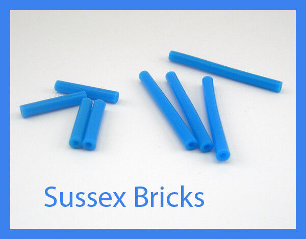 Lego - (4x 8x bleu Pneumatique Tuyau 4 mm V2 (4x - 24 mm) (4x 48 mm) Technic-Nouvelles Pièces d54842