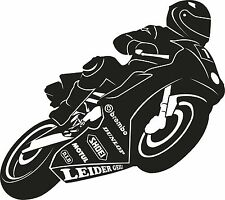 Leider Geil Motorrad Racing Aufkleber für Wohnwagen Anhänger Garage Zimmer