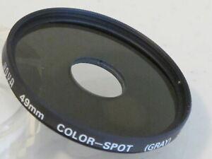 49mm-Hoya-Color-Spot-Gray-Portrait-Filter-NEW-49m8n1