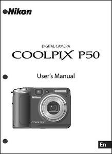 nikon coolpix p50 digital camera user guide instruction manual ebay rh ebay com nikon coolpix p500 manual troubleshoot nikon coolpix p500 manual