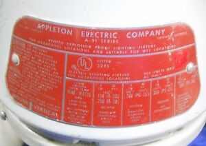 Appleton Vented Explosion Proof Lighting Fixture A 51