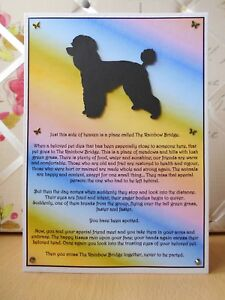 Handmade Poodle Dog Loss Sympathy Card Rainbow Bridge Poem