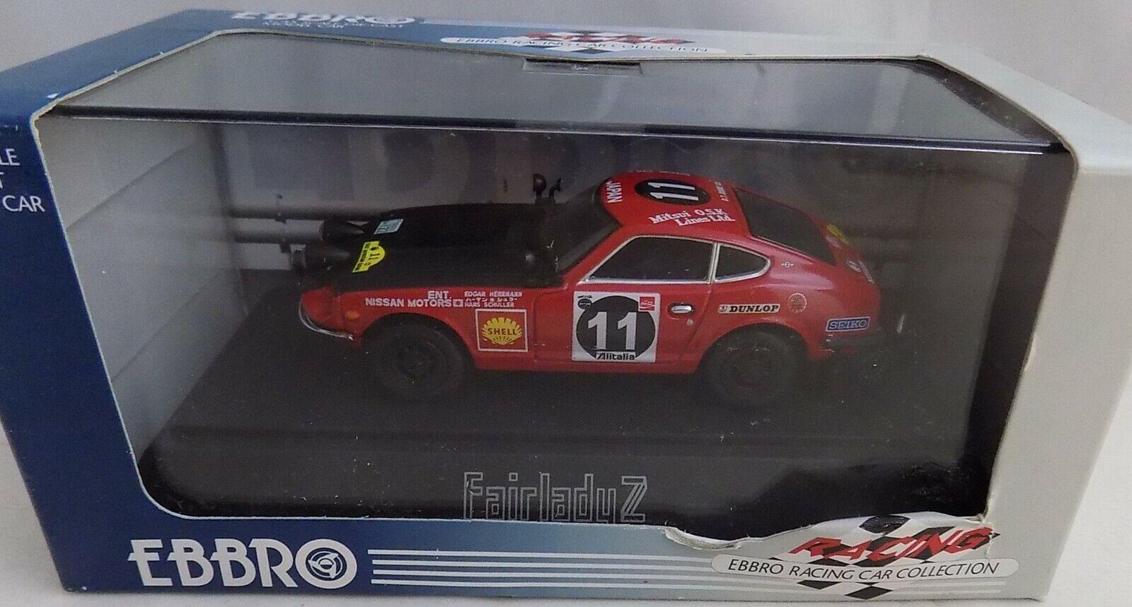 muchas sorpresas Ebbro 1 1 1 43 Nissan Datsun Fairlady Z 240Z Safari Rally Rojo Negro 43103 Nuevo En Caja  Garantía 100% de ajuste