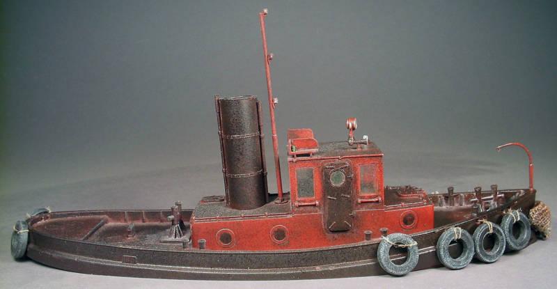 45' Remolcador Barco O FerroCocheril Vapor On30 línea de flotación Casco Modelo unptd Resin Kit FR136