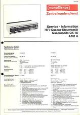 Nordmende Original Service Manual für HiFi-Quadro-Steuergerät Quadronado QX-80