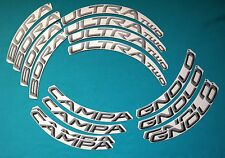 CAMPAGNOLO BORA ULTRA TWO 3D ALL GREY REPLACEMENT RIM DECAL SET FOR 2 RIMS