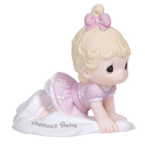 Precious Moments Growing in Grace Birthday Baby Girl Blonde Newborn