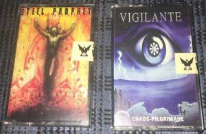 Thrash-Doom-Death-Metal-Vigilante-Steel-Prophet-2-Cassette-Tape-Lot-Played