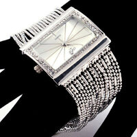 Luxury Sparkling Women/Lady Wrist Watch Bracelet Bangle Diamante Crystal Quartz