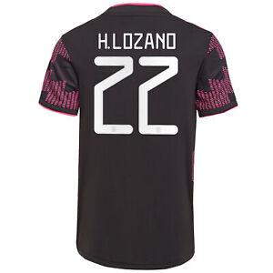Adidas 2021-2022 Mexico Home H. Lozano 22 Jersey - Black-Real ...