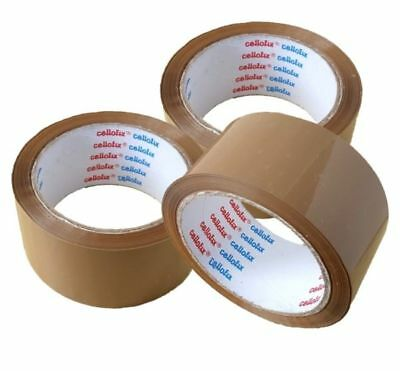 PREMIUM CELLOFIX LOW NOISE BROWN// CLEAR// FRAGILE PARCEL PACKING TAPES 48mm x 66M
