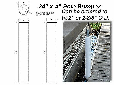 "Round Dock Post Pipe Pole Bumper Cushion Fender 24""x4"" API-RPB244"