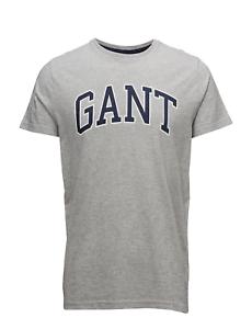 Gant-Para-Hombre-SS-Camiseta-Gris-Melange-R-R-P-40