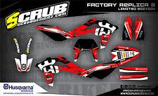 SCRUB Husqvarna WRE 125 2009-2013 '09 '13 Grafik Dekor-Set