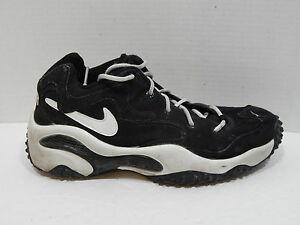 Nike Air Men's Black with White Stripes Shoes Athletic 970103 SIZE 9.5