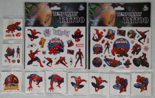Spiderman Tattoo für Kinder Mitgebsel Kindergeburtstag Spiderman