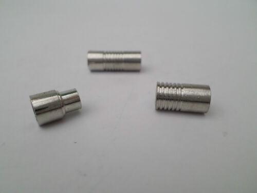 20 x magnétique colonne fermoir 6mm trou de nickel et sans plomb ton argent
