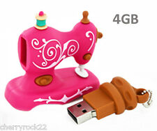 Novelty shaped Pink Vintage Sewing Machine 4GB USB Flash Drive - Memory Stick