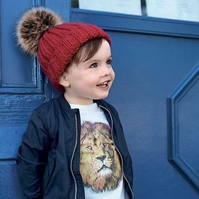Competente Cuffia Infant Fur Pom Pom Beechfiled Bambino Pelliccia Ecologica Bambina
