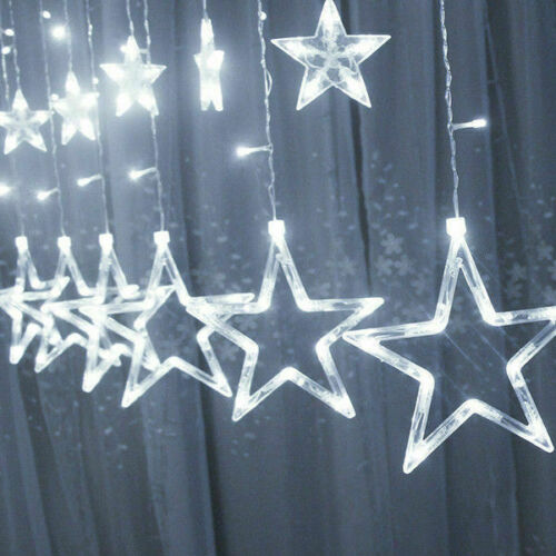 Star Fairy LED Curtain String Lights Garland Wedding Party Xmas Decor Lamp NEW