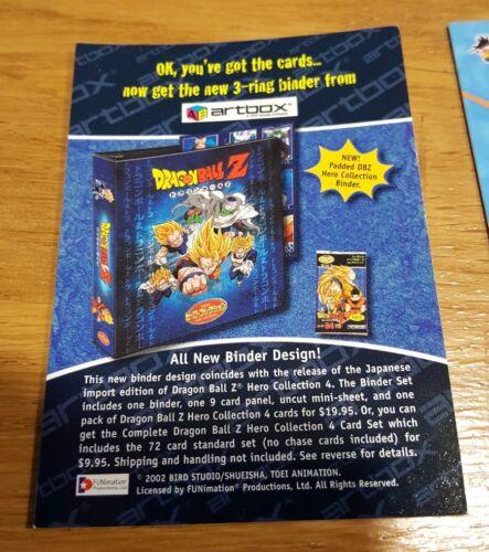 DRAGONBALL Z carte hero collection Binder card us ultra rare